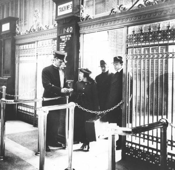 Detroit Central Station entrance