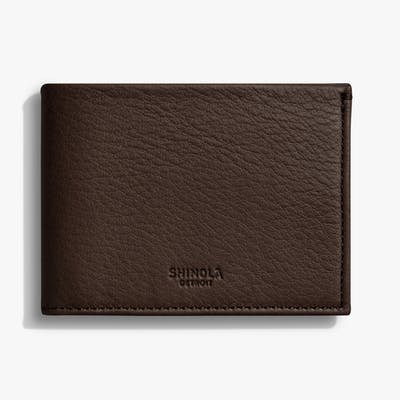 Slim Bifold Wallet - Deep Brown
