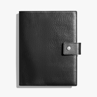 Large Journal Cover w/ Tab - Black