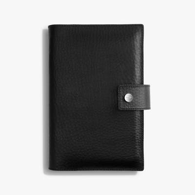 Medium Journal/ iPad Mini Cover w/ Tab - Black