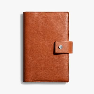 Medium Journal/ iPad Mini Cover w/ Tab - Bourbon