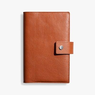 Medium Journal/ iPad Mini Cover w/ Tab - Bourbon