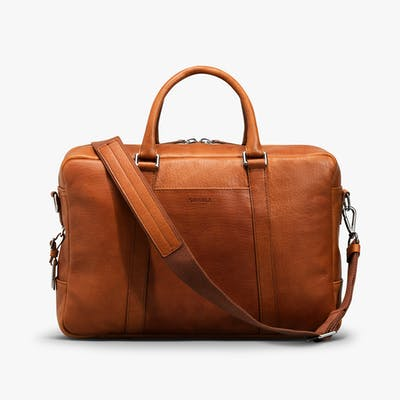 Slim Briefcase - Bourbon