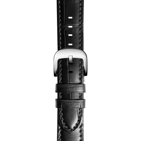24mm Black Genuine Alligator Strap (Extra Long)