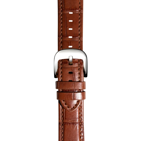 24mm Cognac Genuine Alligator Strap (Extra Long)