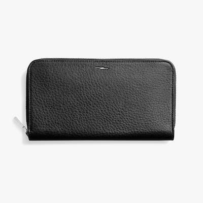 Zip Continental Wallet - Black