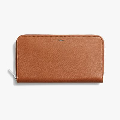 Zip Continental Wallet - Bourbon