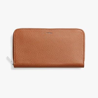 Zip Continental Wallet - Bourbon