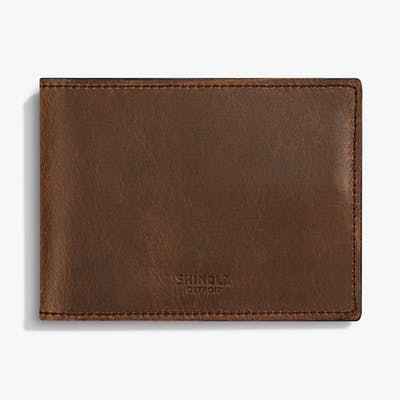 Slim Bifold Wallet - Medium Brown