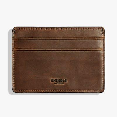 Six Pocket Card Case - Medium Brown