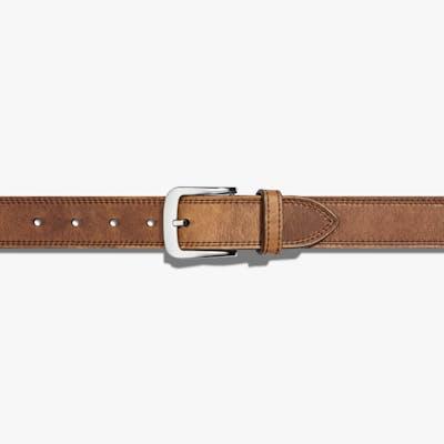 Double Stitch Belt - Medium Brown - Size 32