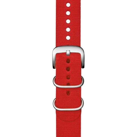 22mm Red G10 Nylon Strap