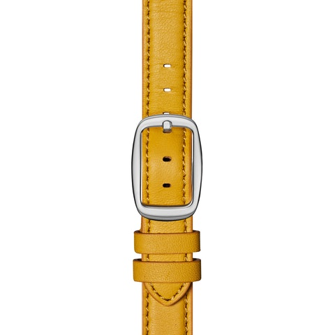 12mm Golden Leather Strap