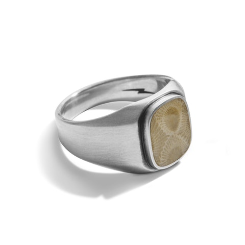 Guardian Petoskey Signet Ring