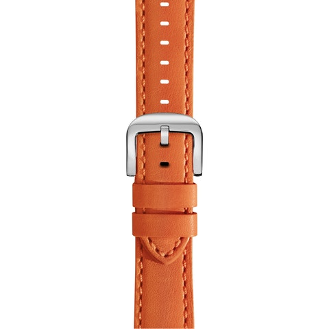 20mm Orange Leather Strap
