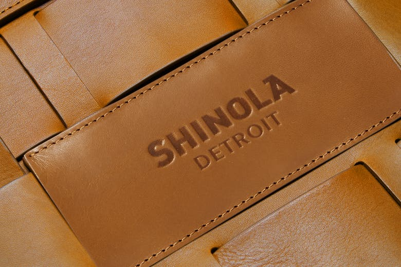 close up shot of leather on bag