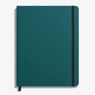 Large Hard Linen Journal