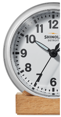 Shinola Runwell Desk Clock