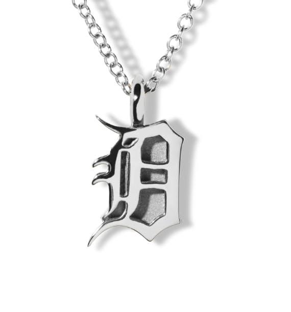 detroit 'D' charm necklace