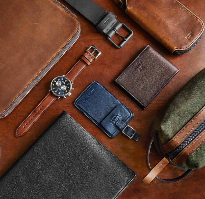 Collection of Men's Leather Accesso