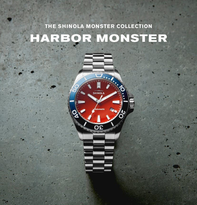 The Shinola Harbor Monster Watch