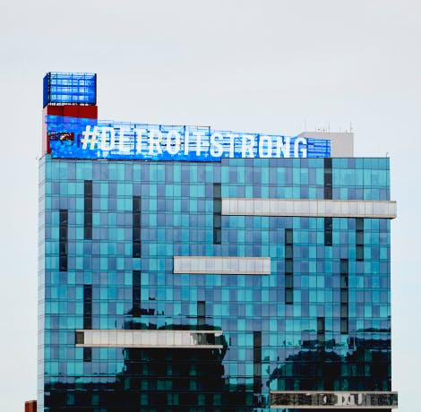 Picture of Greektown Casino in Downtown Detroit