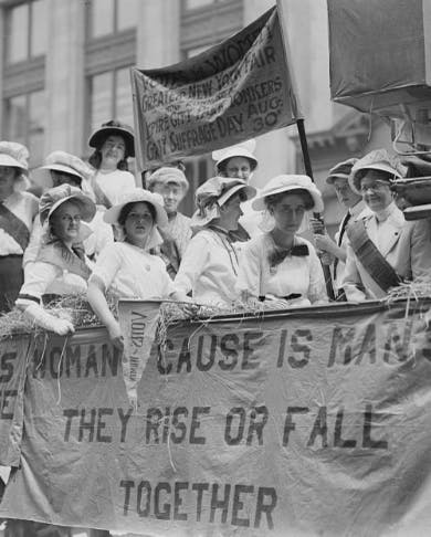 Women marching in the streets
