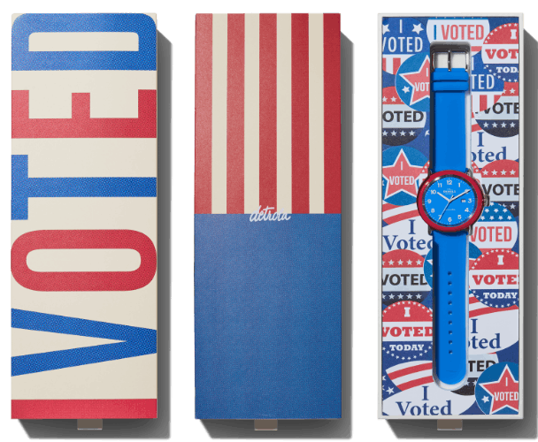 Detrola I Voted packaging
