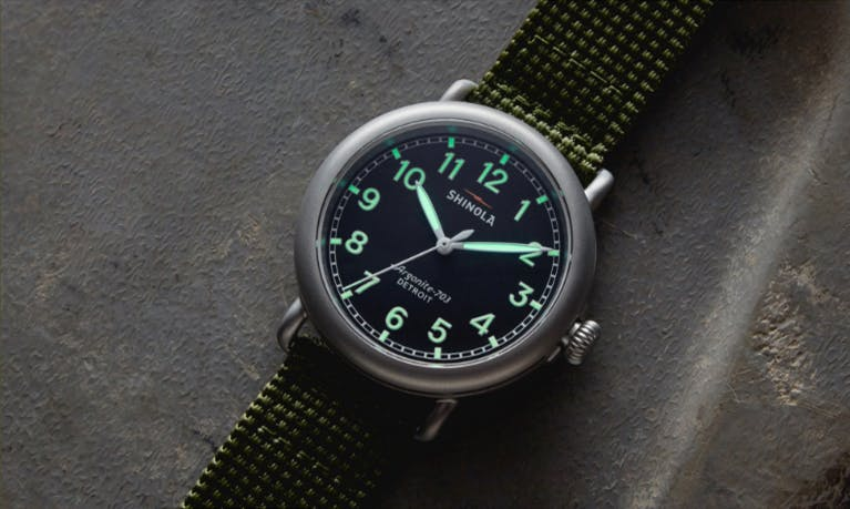 Close-up picture of the Runwell Field Watch