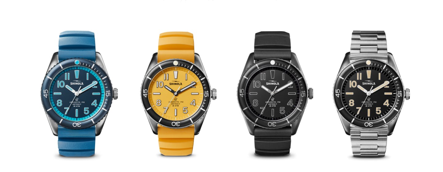 The Shinola Duck Seriies Watches