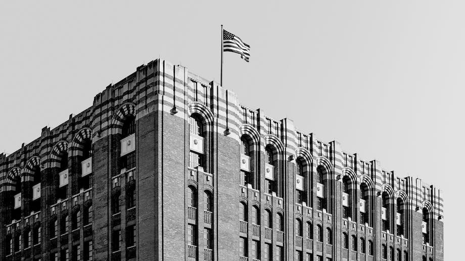 Black and white photo of the Shinola World Head Quarters