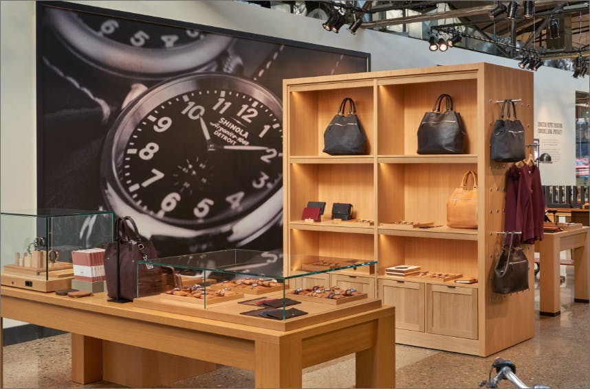 Interior picture of a Shinola Store