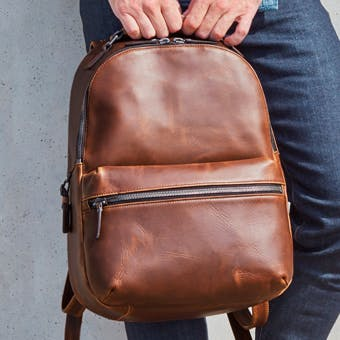The Runwell Backpack in Brown