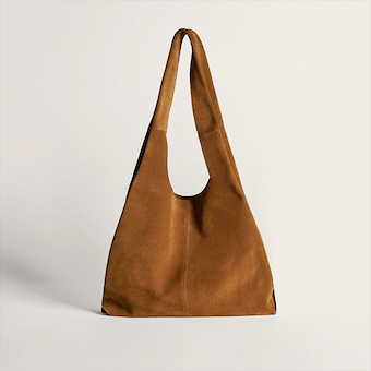 Medium Shopper Tote in Bourbon